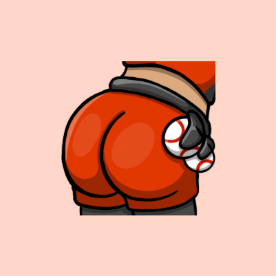 Speedy's Butt Twitch Emote designed by WildeThang