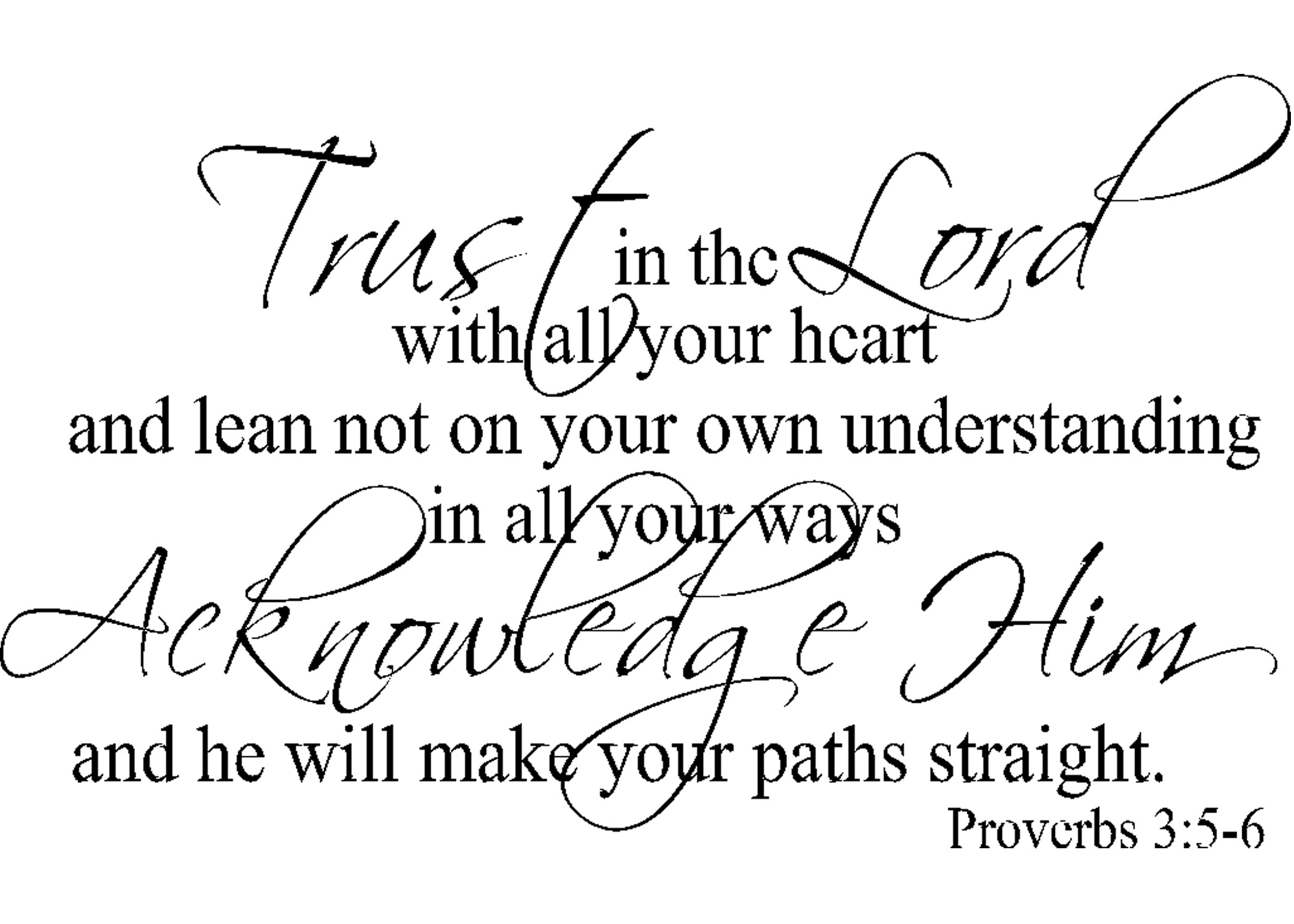 Proverbs 3 5 6 Worksheet