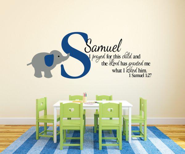 1 Samuel 1:27 Vinyl Wall Decal 3
