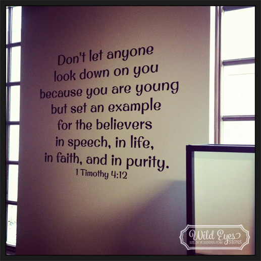 1 Timothy 4:12 Vinyl Wall Decal