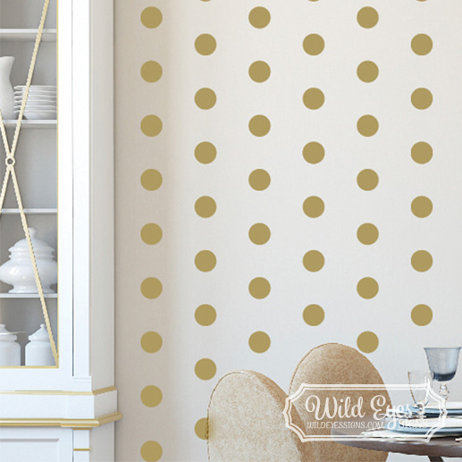 Polka Dot Circles Vinyl Wall Decal