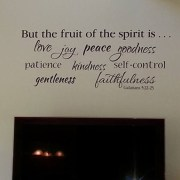 Galatians 5:22 Vinyl Wall Decal 2