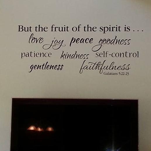 Galatians 5:22 Vinyl Wall Decal 2