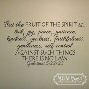 Galatians 5:22-23 Vinyl Wall Decal 3