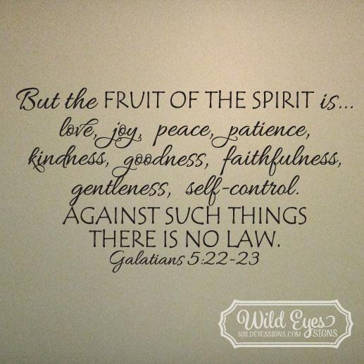 Galatians 5:22-23 Vinyl Wall Decal 3
