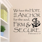 Hebrews 6v19 Vinyl Wall Decal