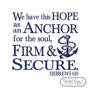 Hebrews 6:19 Vinyl Wall Decal 2