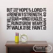 Isaiah 40:31 Christian Subway Art Vinyl Wall Decal 2