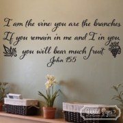 John 15:5 Vinyl Wall Decal
