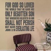 John 3:16 Vinyl Wall Decal 1