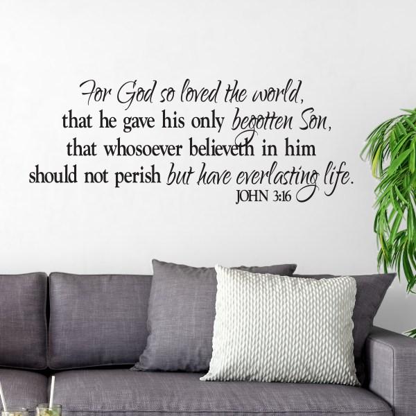 John 3:16 Vinyl Wall Decal 2