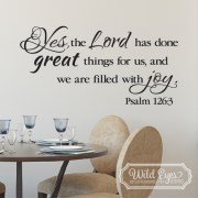Psalm 126:3 Vinyl Wall Decal 3