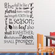 Psalm 1:3 Vinyl Wall Decal