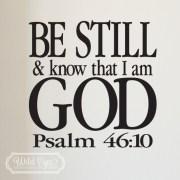Psalm 46:10 Vinyl Wall Decal