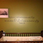Psalm 4:8 Vinyl Wall Decal