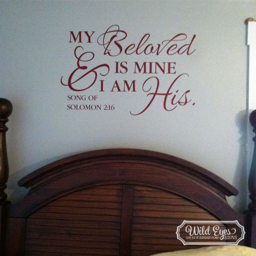 Song of Solomon 2:16 Vinyl Wall Decal