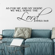 Joshua 24v15 Vinyl Wall Decal 6