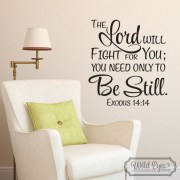 Exodus 14v14 Vinyl Wall Decal
