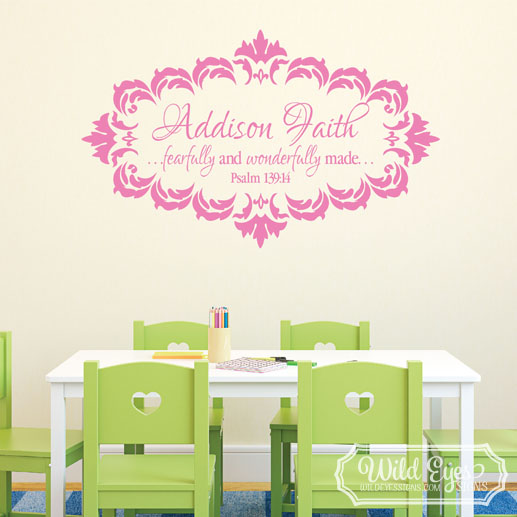 Psalm 139v14 Vinyl Wall Decal 7