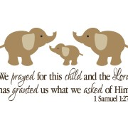 1 Samuel 1:27 Vinyl Wall Decal