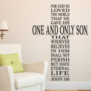 John 3:16 Vinyl Wall Decal version 5