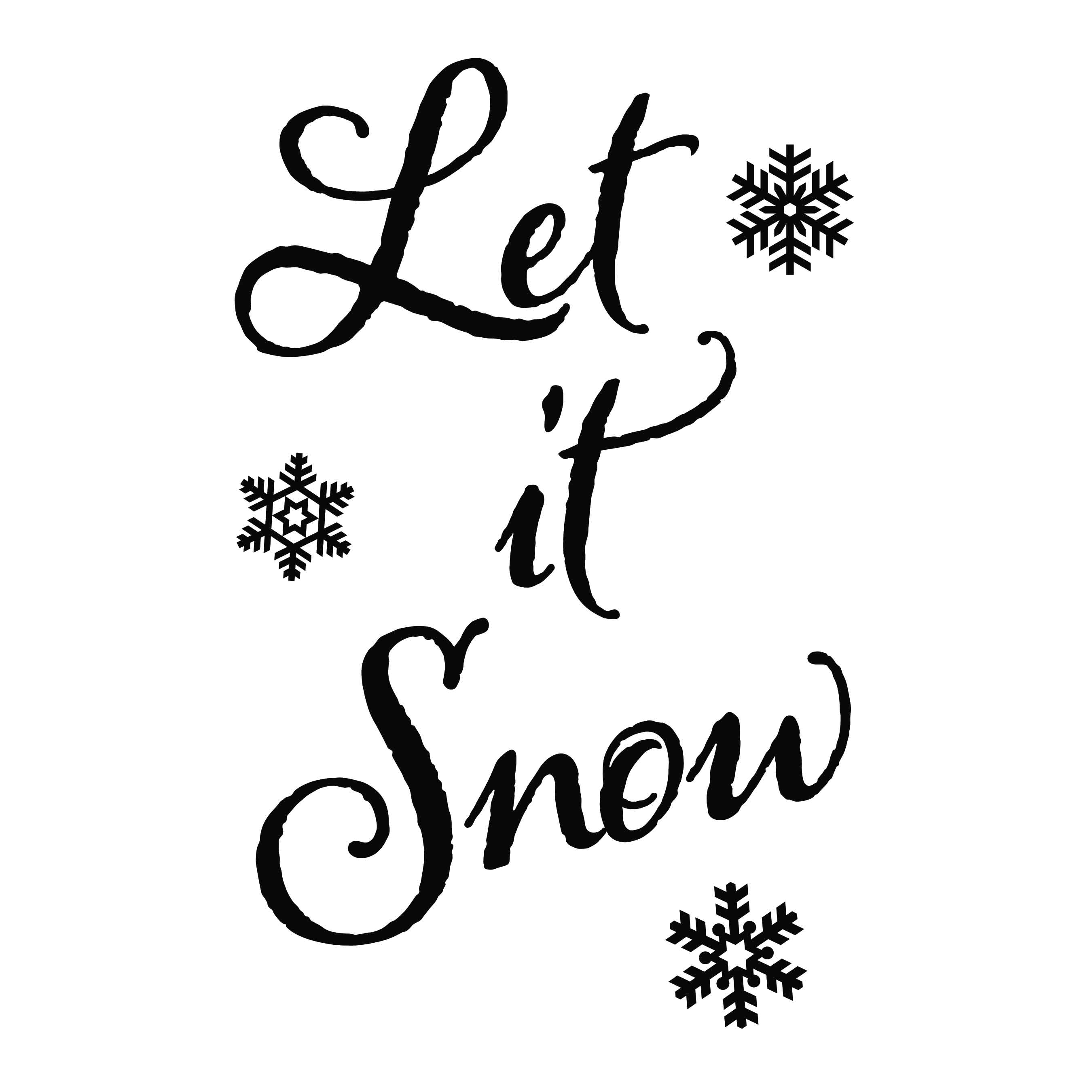 Let It Snow Vinyl Wall Decal Christmas Seasonal Decoration