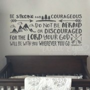 Joshua 1v9 Vinyl Wall Decal 15