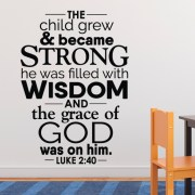 Luke 2:40 Vinyl Wall Decal
