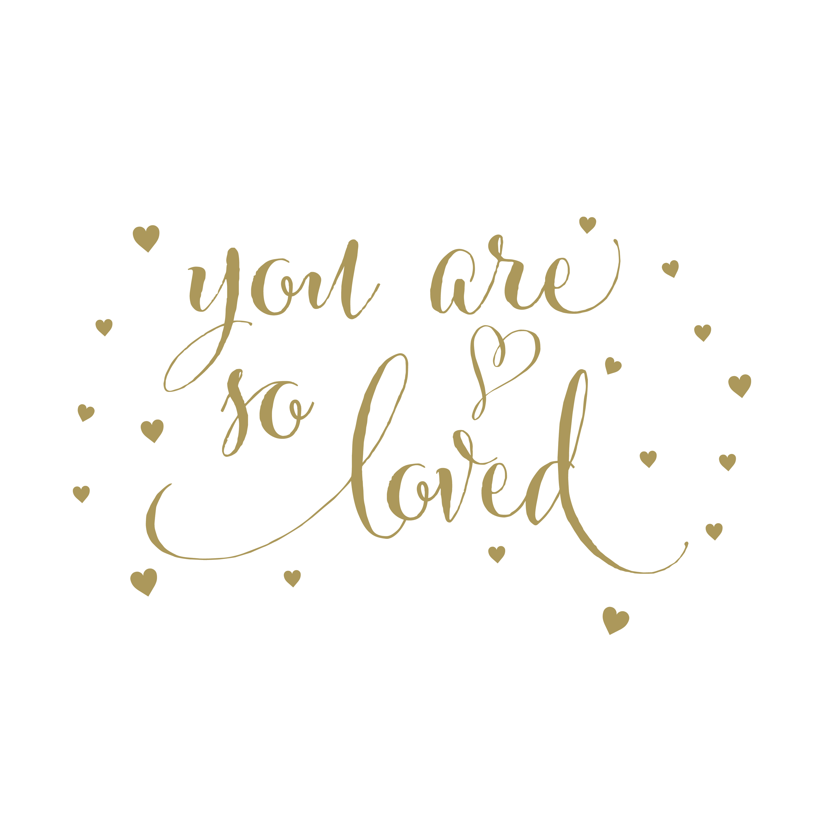 You Are Loved Wall Decal