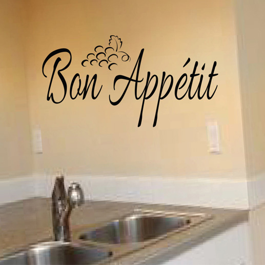 Bon Appétit Kitchen Vinyl Wall Decal