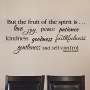 Galatians 5:22 Vinyl Wall Decal 6