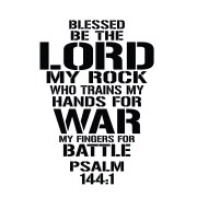 Psalm 144:1 Vinyl Wall Decal 1