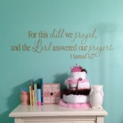 1 Samuel 1:27 Vinyl Wall Decal 1