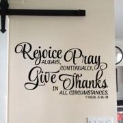 1 Thessalonians 5:16-18 Vinyl Wall Decal 3