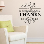 1 Thessalonians 5:18 Vinyl Wall Decal 1