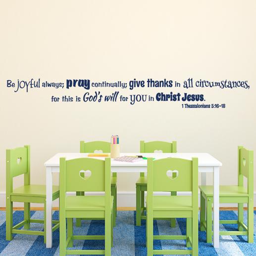 1 Thessalonians 5:16-18 Vinyl Wall Decal 4