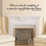 Ecclesiastes 3:1 Vinyl Wall Decal 1