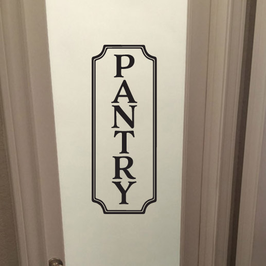 PANTRY Vinyl Wall Decal