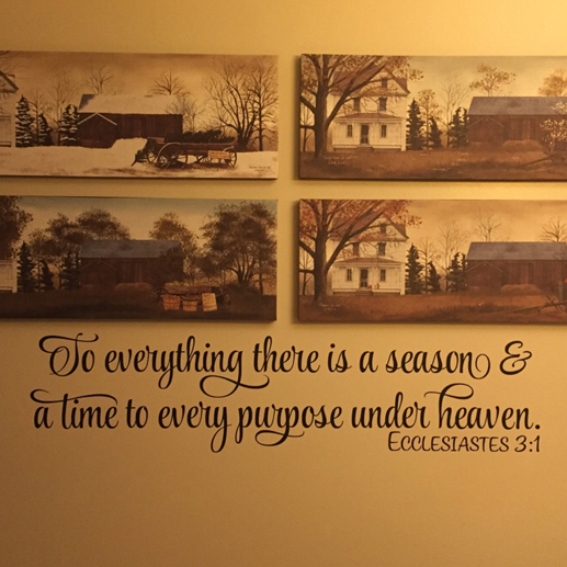 Ecclesiastes 3:1 Vinyl Wall Decal 2