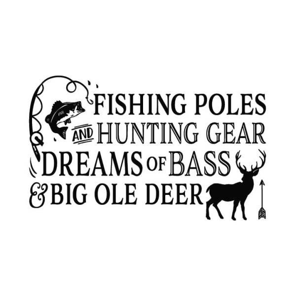 Fishing Poles and Hunting Gear v2
