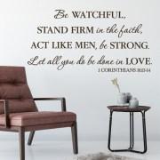 1 Corinthians 16:13 Vinyl Wall Decal 7