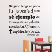 1 Timothy 4:12 Vinyl Wall Decal 37 Spanish