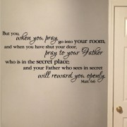 Matthew 6v6 Vinyl Wall Decal 1
