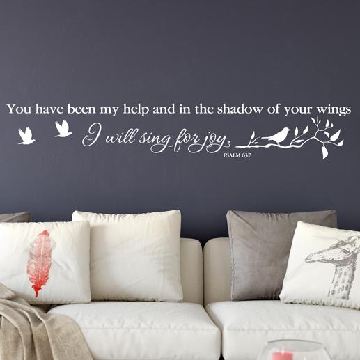 Psalm 63:7 Vinyl Wall Decal 1