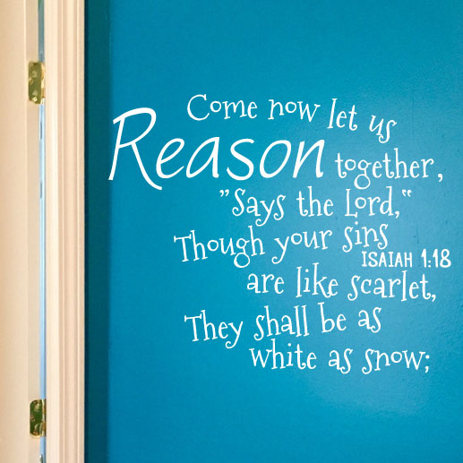 Isaiah 1:18 Vinyl Wall Decal