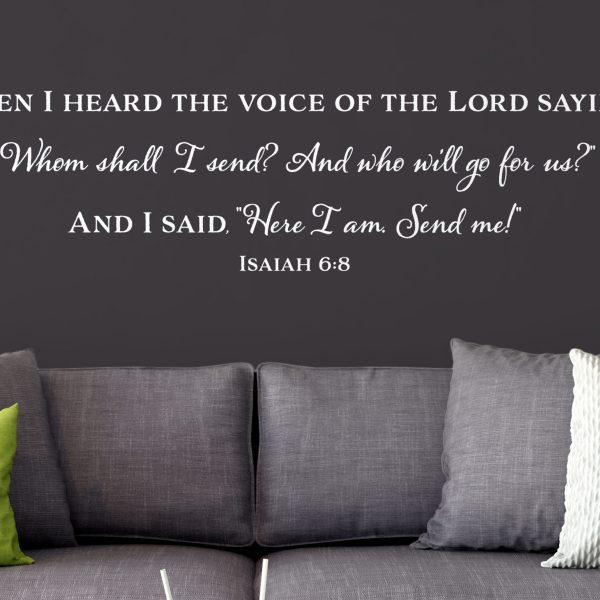 Isaiah 6:8 Vinyl Wall Decal