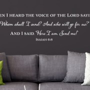 Isaiah 6:8 Vinyl Wall Decal