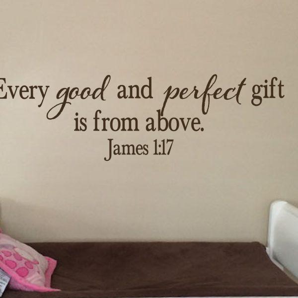 James 1:17 Vinyl Wall Decal 20