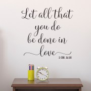 1 Corinthians 16:18 Vinyl Wall Decal