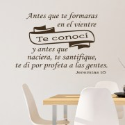 Jeremías 1v5 Vinyl Wall Decal 23 Spanish